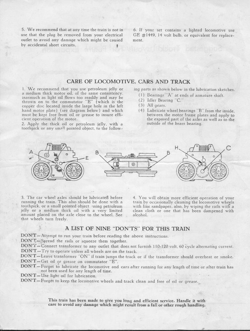 MarxTinplateTrains.com -- Instructions Sheets & Catalogs on train seats, train engine diagrams, train suspension, train parts, train horn diagrams, train drawings, train battery,